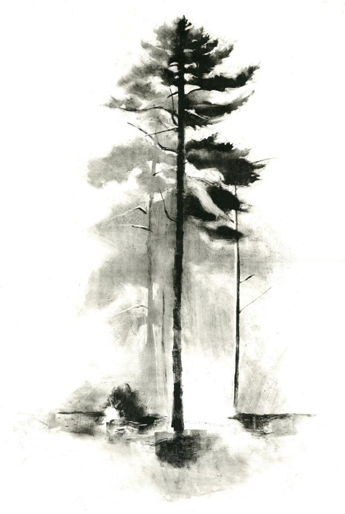 """The Sentinel, monotype, 36"""" x 24"""", 2013"""